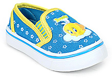 Tweety Canvas Shoes Slip On - Blue