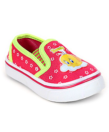 Tweety Canvas Shoes Slip On - Pink