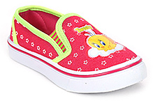 Tweety Canvas Shoes Slip On - Bright Pink