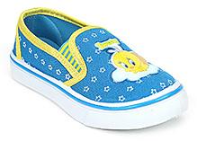 Tweety Canvas Shoes Slip On - Light Blue