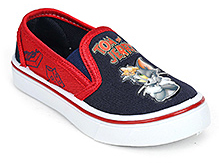 Tom and Jerry Canvas Shoes Slip On - Navy Blue And Red