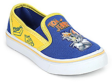 Tom and Jerry Canvas Shoes Slip On - Blue And Yellow