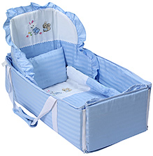 Fab N Funky Carry Cot - Bunny Embroidery