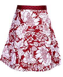 Babyhug Pleated Skirt - Floral Print