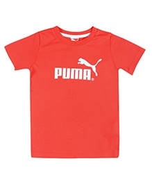 Puma Red T-Shirt Half Sleeves - Printed