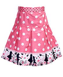 Babyhug Pleated Skirt - Polka Dot