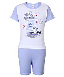 Zero Half Sleeves T-Shirt And Shorts - Printed