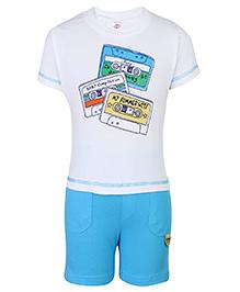 Zero Half Sleeves T-Shirt And Shorts - My Summer Hits Print
