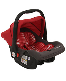 Sun Baby Canopied Car Seat - Red And Grey