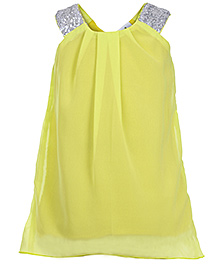 Babyhug Sleeveless Frock - Sequin Work