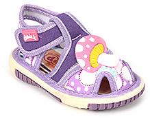 Doink Baby Sandals Velcro Closure - Mushroom Applique