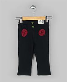 Baobaoshu Trendy Fleece Pants -  Black