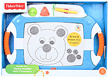Fisher Price Doodle Pro Classic Doodler With 2 Stampers - Blue
