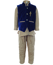 Babyhug Full Sleeves Kurta And Jodhpuri Pajama With Jacket