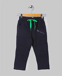 Black Casual Fleece Pants