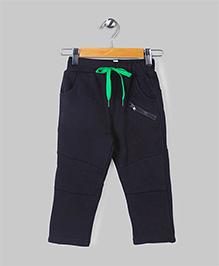 Black Casual Fleece Pants