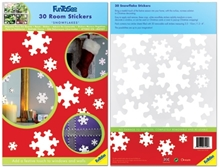 Fun To See Snowflakes Wall Stickers - 30 Pieces