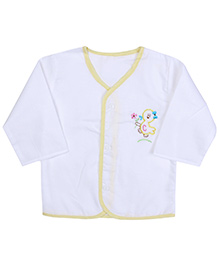 Babyhug Front Open Vest Full Sleeve - Duck Embroidery