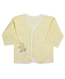 Babyhug Front Open Vest Full Sleeve - Front Embroidery