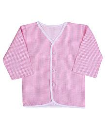 Babyhug Front Open Vest Full Sleeve - Checks