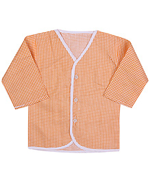 Babyhug Front Open Vest Full Sleeve - Checks