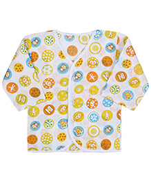 Babyhug Front Open Vest Full Sleeve - Printed