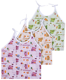 Babyhug Singlet Shoulder Tie Up Jabla - Set fo 3