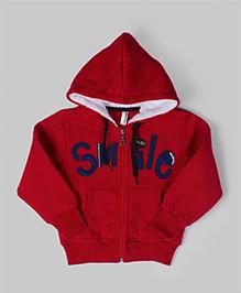 Carmine Smile Hoodie Jacket