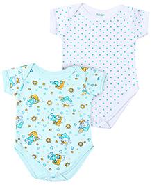 Babyhug Short Sleeve Onesies Printed - Set of 2