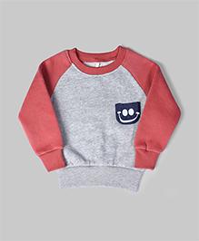 Cupcake Pink & Grey Printed Sweatshirt