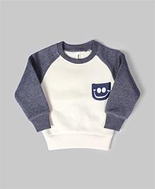 Off White & Grey Printed Sweatshirt