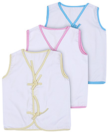 Babyhug Front Open Vest Sleeveless - Set of 3