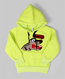 Lime Yellow Crocodile Hoodie Sweatshirt