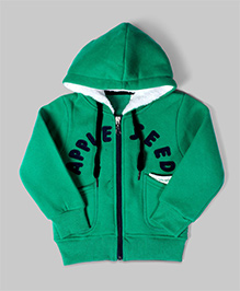 Green Text Applique Jacket