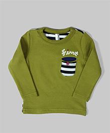 Baobaoshu Patch Pocket Sweatshirt - Sap Green