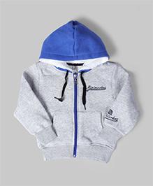 Blue & Gray Minimarket Hoodie Jacket