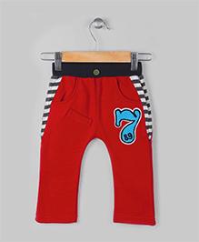Baobaoshu Low Crotch Fleece Pants - Red
