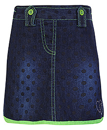Babyhug Denim Skirt - Polka Dot Print