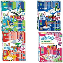 Ekta Color And Wipe Play And Learn Combo - 4 Pieces
