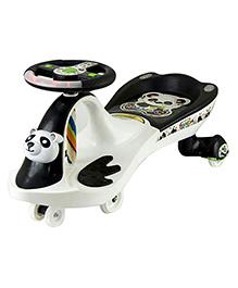 Dealbindaas Panda Magic Car Ride On - Black And White