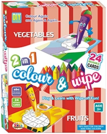 Ekta Colour And Wipe - Vegetables And Fruits