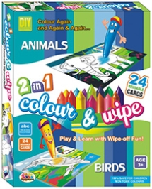 Ekta Color And Wipe Kit - Animals And Birds