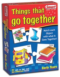 Smart Toy Puzzle Things That Go together - 21 Set of Two Piece