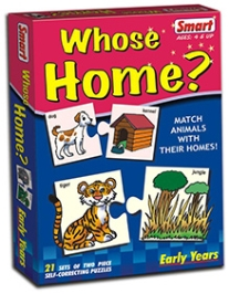 Smart Toy Puzzle Whose Home - 21 Set of Two Piece