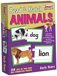 Smart Toy Puzzle Read And Match Animals - 28 Set of Two Piece