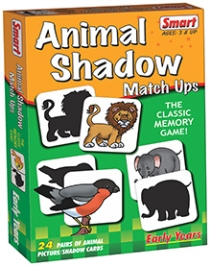 Smart Toy Game Animal Shadow Match - 48 Pieces