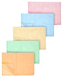 Tinycare Plastic Diaper Changing Sheets Plain - Set Of 5