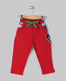 Baobaoshu Trendy Fleece Pants - Red