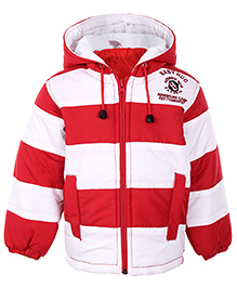 Babyhug Full Sleeve Hooded Jacket Dual Color - Stripes
