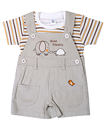 ToffyHouse Dungaree Style Romper - Best Friend